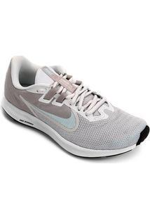 Tênis Nike Downshifter 9 Feminino - Feminino-Cinza+Azul