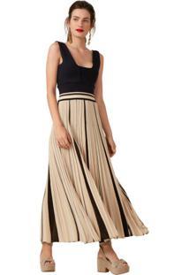Vestido Bicolor Plus Size feminino  5dba658124a