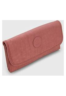 Carteira Kipling Money Land Rosa
