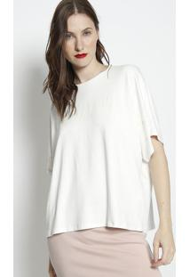Blusa Ampla Com Inscriã§Ã£O- Off White- Forumforum