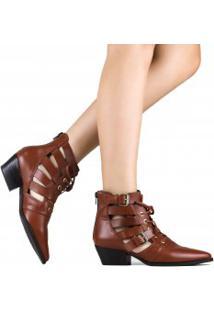 Bota Zariff Shoes Ankle Boot Vazado