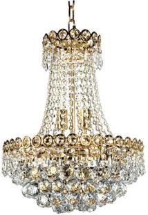 Lustre De Cristal Fontana Di Trevi Dourado Dourado