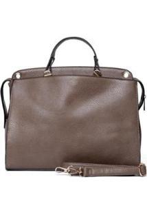 Bolsa Nice Bag Pasta Alça Transversal Feminina - Feminino-Marrom