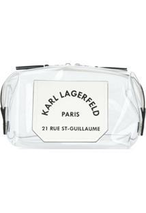 Karl Lagerfeld Nécessaire K/Journey Transparente - Branco