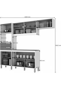 Cozinha Compacta 5 Peças Com Balcão E Tampo B107 Briz Fendi/ Moka