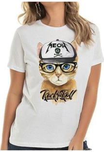 Camiseta Cat Rock Buddies Feiminina - Feminino