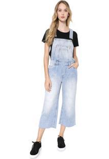 Macacão Calvin Klein Jeans Pantacourt Azul