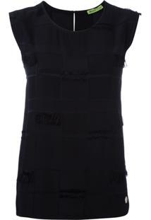 Versace Jeans Couture Regata Com Acabamento Desfiado - Preto