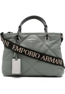 Emporio Armani Quilted Leather Shoulder Bag - Cinza