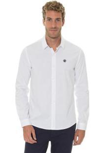 Camisa Timberland Cotton Essential Masculina - Masculino-Branco