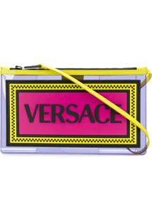 Versace 90S Vintage Logo Pouch - Roxo