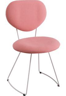 Cadeira Milao Aço T1077 Linho Daf Coral