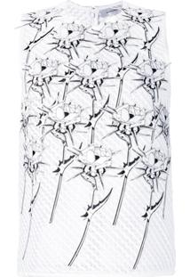 Carven Blusa Floral - Branco