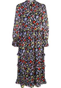 Olivia Rubin Vestido Midi Com Padronagem Floral - Estampado