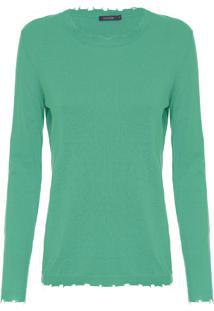 Camiseta Feminina Tricot Trash - Verde