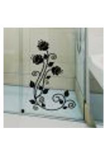 Adesivo Para Box Banheiro Floral / Arabesco 2 - Medio