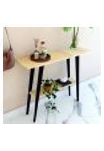Mesa/ Aparador Auxiliar Natural & Colors 2 Prateleiras Assimétricas Único