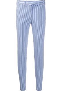 Incotex Striped Slim-Fit Trousers - Azul