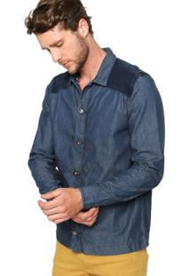 Camisa Jeans Sommer Recorte Azul