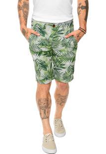 Bermuda Redley Folhagens Verde
