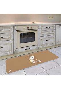 Tapete De Cozinha Mdecore Vaquinha Marrom 40X120Cm