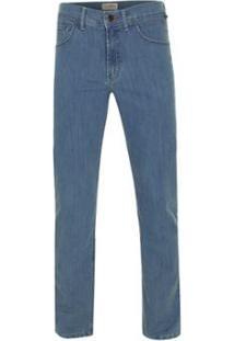 Calça Pierre Cardin Jeans Delave Masculina - Masculino-Azul