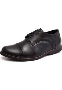 Sapato Social Oxford Shoes Grand Derbi Preto Tamanho Especial