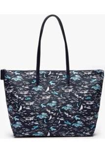 Bolsa Lacoste Feminina - Feminino-Azul Escuro