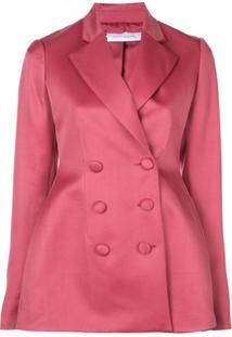 Marina Moscone Blazer Com Abotoamento Duplo - Rosa