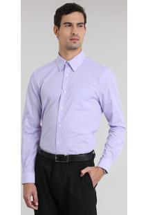 Camisa Comfort Listrada Lilás