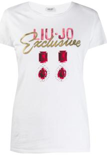 Liu Jo Camiseta Exclusive Com Estampa De Brincos - Branco