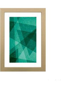 Quadro Decorativo Green Forms I 23X33Cm Zebrano Infinity