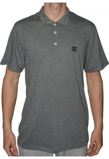 ... Camiseta Dc Shoes Polo Basic Cinza Mescla 435a1fc0c7b