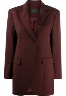 Low Classic Oversized Tailored Blazer - Vermelho