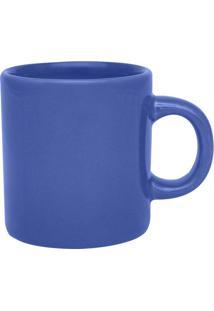 Xícara De Café Biona Oxford Az4 Cerâmica Azul 100Ml