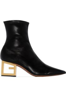 Givenchy Ankle Boot Com G No Salto - Preto