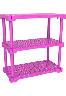 Estante Cube 3 Rosa