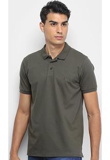 Camisa Polo Reserva Confort Masculina - Masculino-Verde Escuro