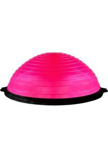 Bosu Ball Com Bomba- Pink & Preto- 11Xã˜60Cm- Actacte