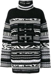 Givenchy Suéter Texturizado De Tricô - Preto