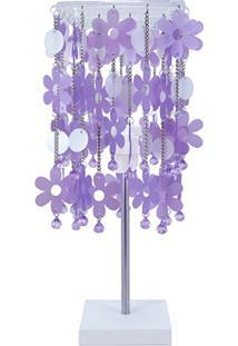 Abajur Flores Glam Lilás Carambola