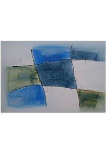 Quadro Abstrato Uniart Azul 70X100Cm