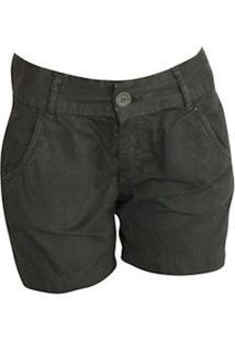 Bermuda Visual Jeans Feminina - Feminino-Preto
