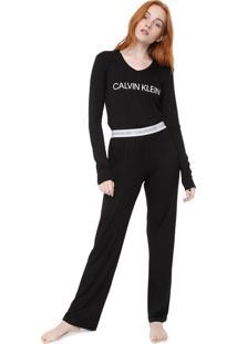 Pijama Calvin Klein Underwear Modern Preto