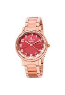 Relógio Feminino Champion Cn25596I Crystal Analógico Rosé