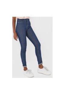 Calça Jeans Dzarm Skinny Pespontos Azul