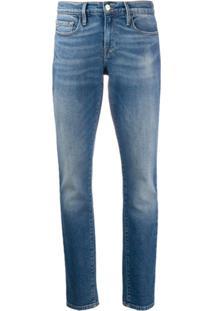 Frame Calça Jeans Skinny Cintura Média - Azul