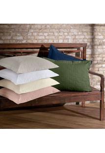 Porta Travesseiro Tintos - Percal 200 Fios - 100% Algodão - Bouton - Rosa