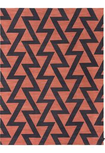 Tapete Dhurie Zig Zag Red/Black