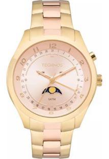 Zattini. Relógio Technos Feminino Unissex Dourado Inox Vidro ... 6e64c9ad3c